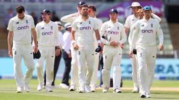 England players make their way off after losing the second Test against New Zealand