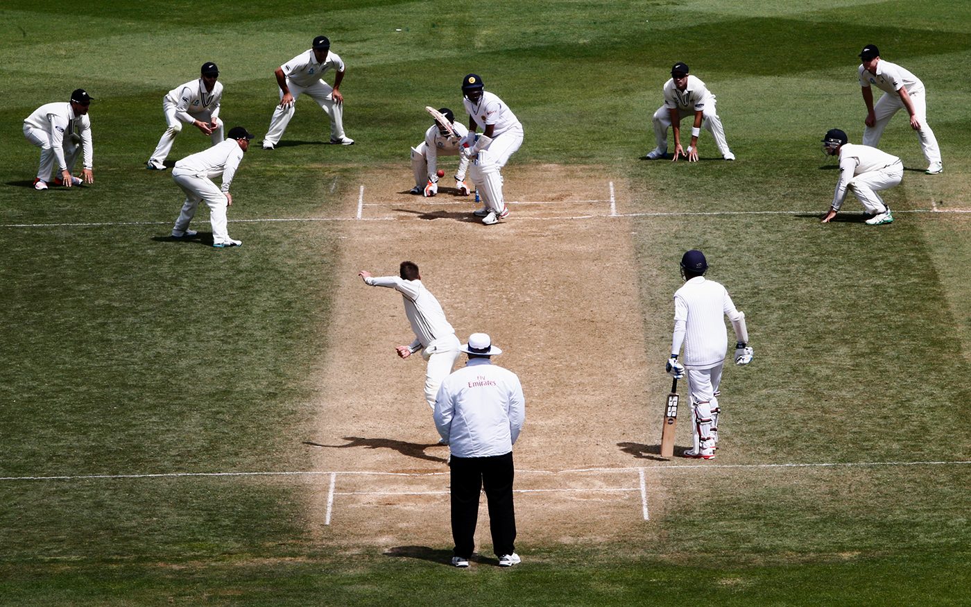 Head of the pack: McCullum (at silly point) shifted himself and the team towards the idea of being aggressive in attitude and not in behaviour