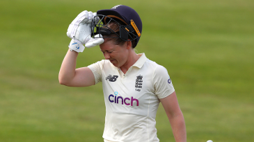Heather Knight fell five short of a hundred