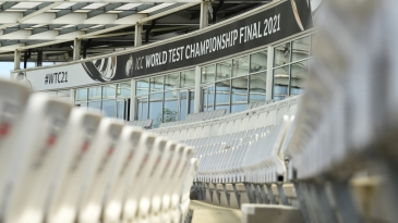 The Ageas Bowl in Southampton: ready to host 4000 fans at the WTC final