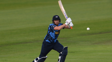 Jonny Bairstow flashes through the off side
