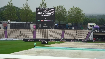 Day one of the WTC final was washed out without a ball bowled