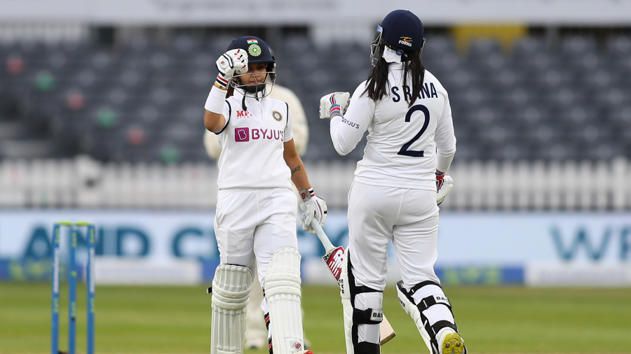 Taniya Bhatia and Sneh Rana shared a crucial rearguard partnership for the ninth wicket