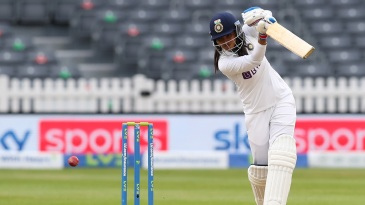 Sneh Rana came up with an extremely crucial fifty on debut