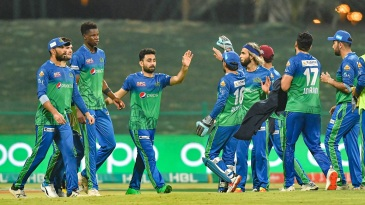 Multan Sultans players celebrate
