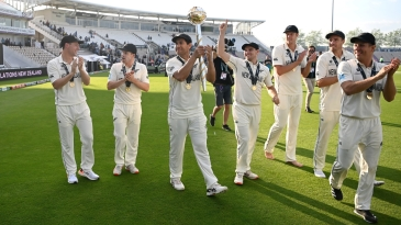 Job done, New Zealand soak in the victory