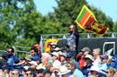A fan waves a Sri Lanka flag in the crowd at the Riverside, England vs Sri Lanka, 1st ODI, Chester-le-Street, June 29, 2021