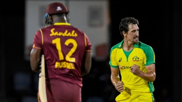 Mitchell Starc bowled five dot balls in the final over