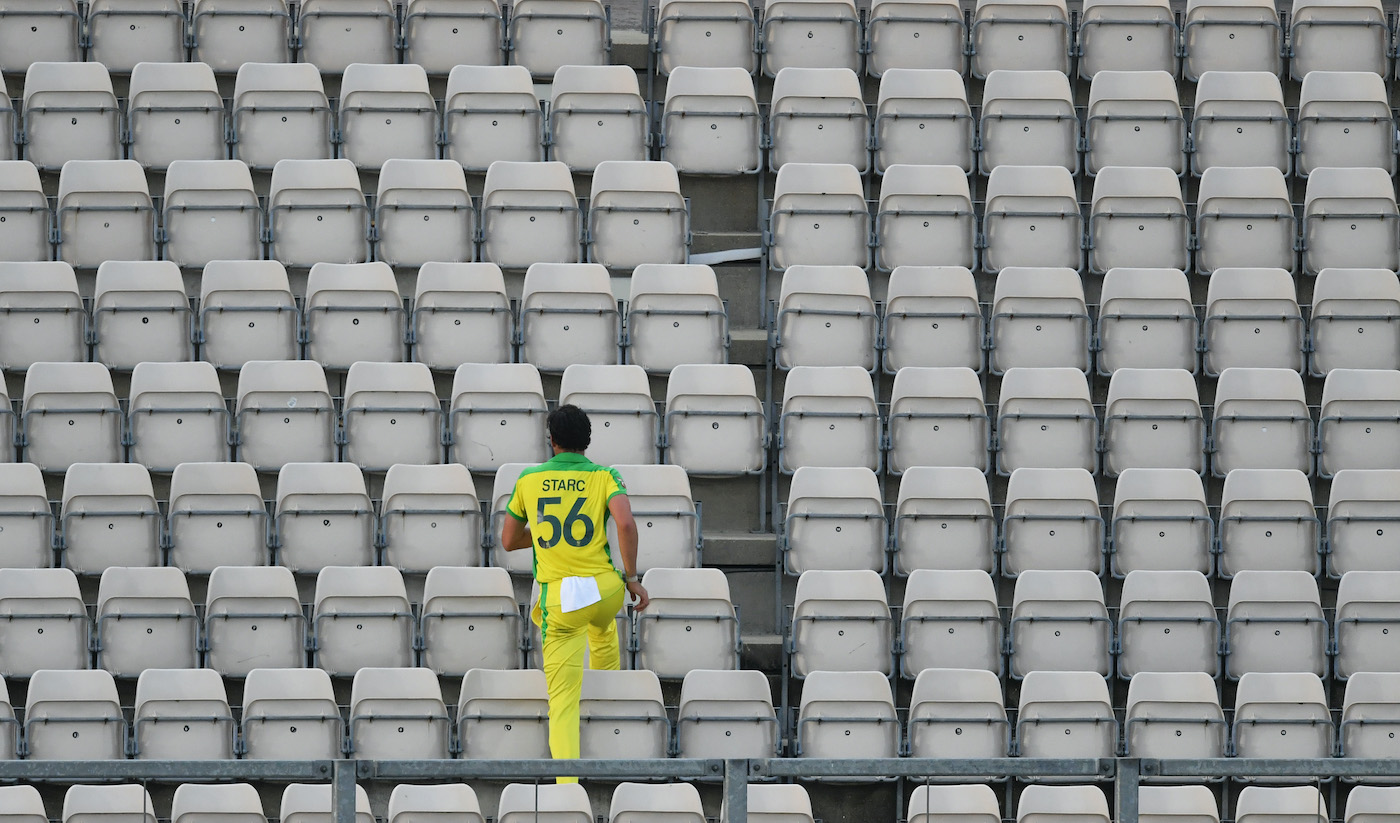 Mitchell Starc contemplates a new sport, starcour, while hunting for the ball during the closed-door ODIs in England in 2020