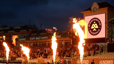 The flamethrowers were in action