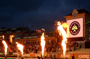 The flamethrowers were in action, Birmingham Phoenix vs London Spirit, Men's Hundred, Edgbaston, July 23, 2021