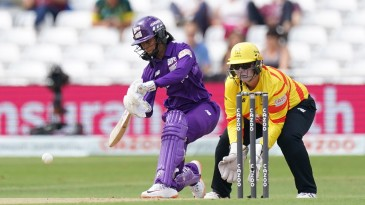 Jemimah Rodrigues drives into the covers