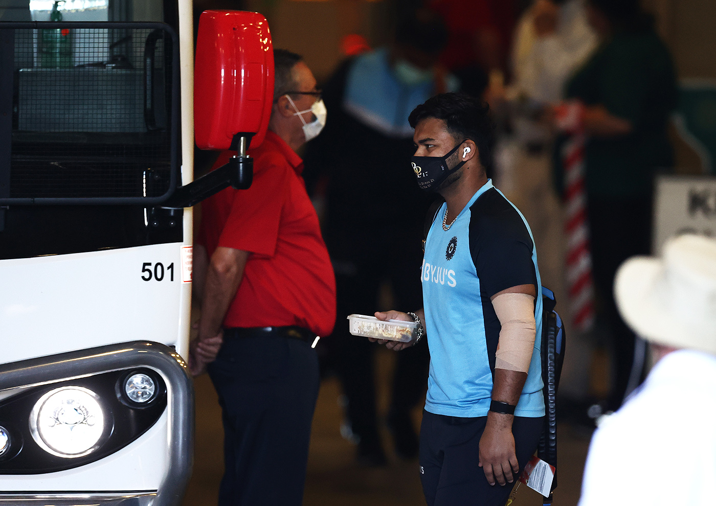 Hotel, bus, ground, repeat: Rishabh Pant during India's long multi-format Australia tour last year, which immediately followed the IPL in the UAE and preceded India's four-Test home series against England