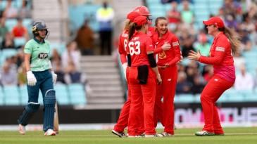 Hannah Baker claimed the key wicket of Grace Gibbs
