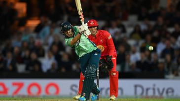 Sam Billings got stuck into the chase