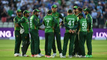 Pakistan await the third umpire's decision