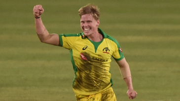 Nathan Ellis picked up a hat-trick on his international debut