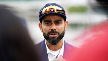 No smiling matter: India's Virat Kohli has lost 10 out of 11 tosses against England's Joe Root in Tests, this match included