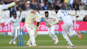 Sam Curran is out for a duck again in the second innings