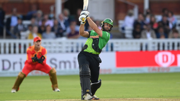 Ross Whiteley heaves down the ground during his 44 from 19