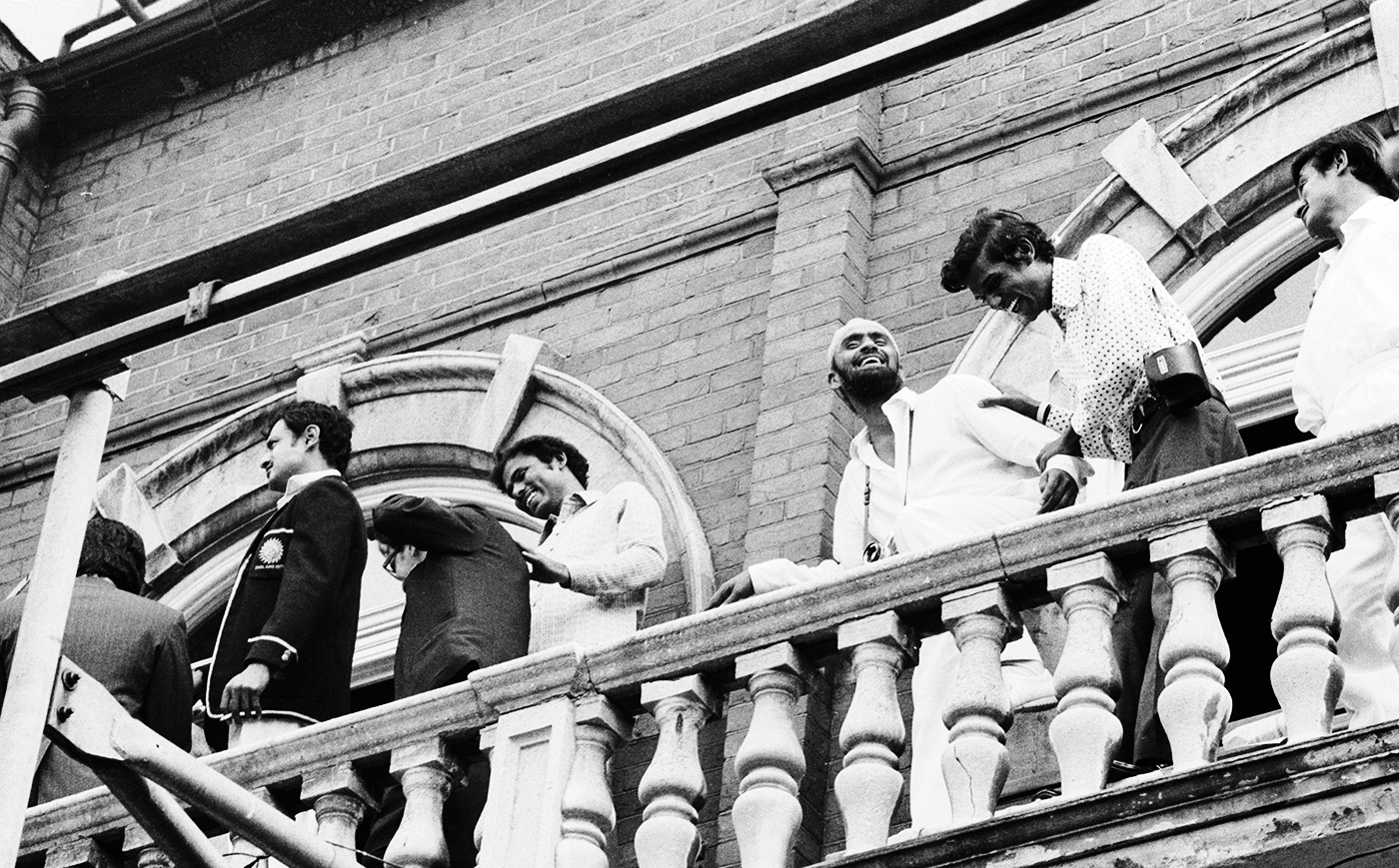 Up where we belong: India's players relish the victory from the Oval balcony