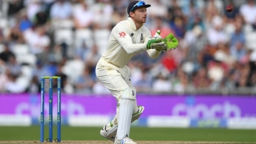 Jos Buttler pouched five catches on day one at Headingley