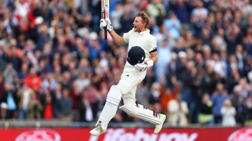 Joe Root is ecstatic after scoring a hundred