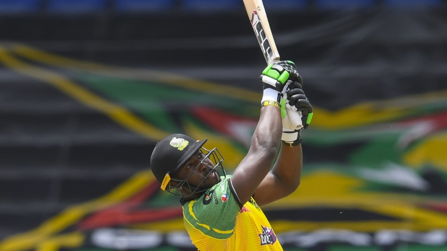 Andre Russell sends one away on way to a 14-ball 50*