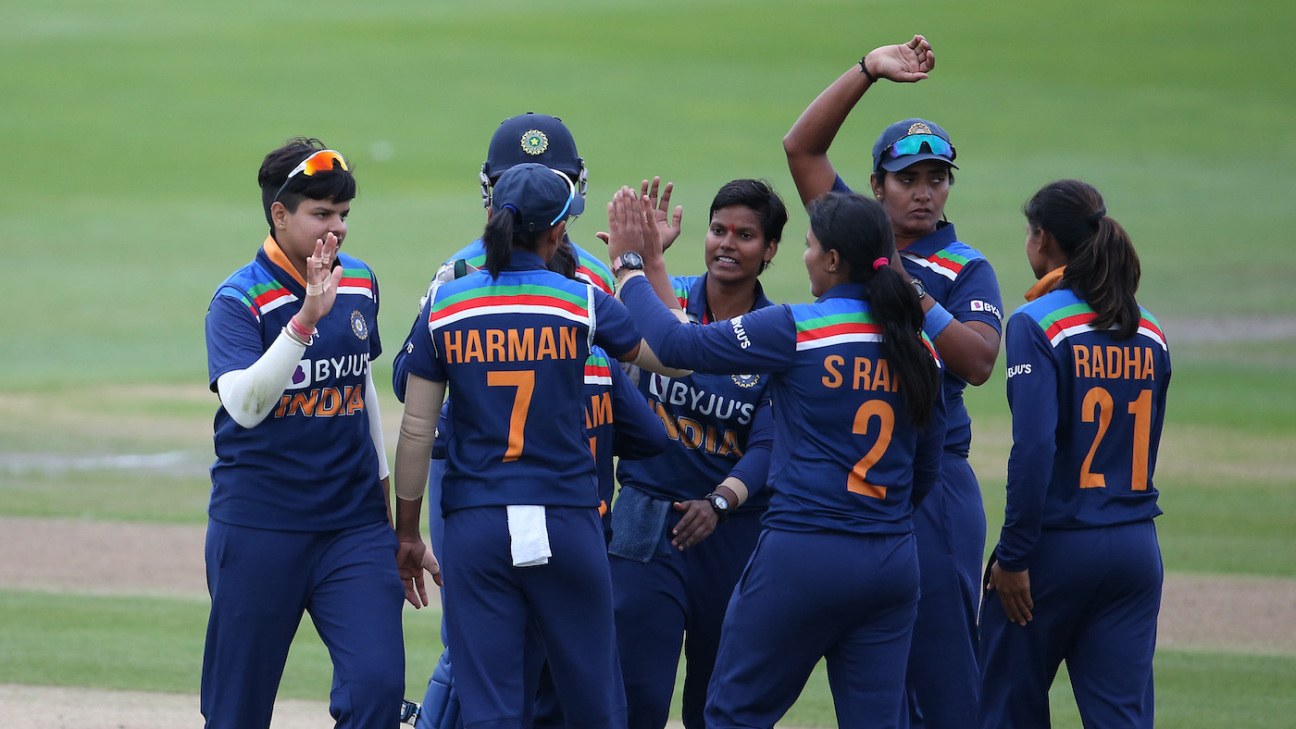 The India players celebrate