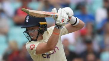 Ollie Pope leans into a cover drive