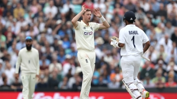 KL Rahul, with Rohit Sharma, kept Ollie Robinson and Co at bay for a long while