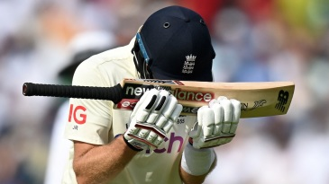 Joe Root is gutted after getting out