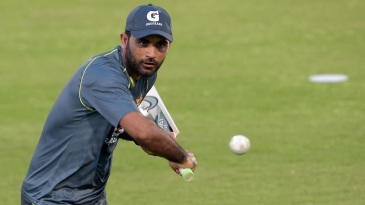 Fakhar Zaman during a practice session
