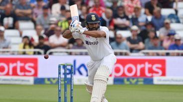 Rohit Sharma leaves the ball