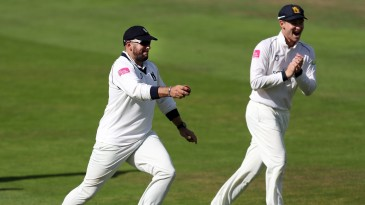 Tim Bresnan claimed six catches to hasten Yorkshire's demise