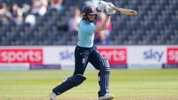 Heather Knight drives during her half-century