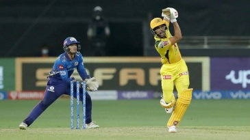 Ruturaj Gaikwad pumps a straight six