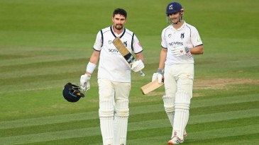 Will Rhodes reaches his century in the Bob Willis Trophy final