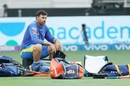 Stephen Fleming oversees CSK's warm-up, Delhi Capitals vs Chennai Super Kings, IPL 2021, Dubai, October 4, 2021