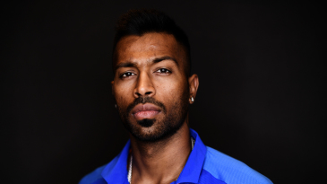 Hardik Pandya poses for a portrait
