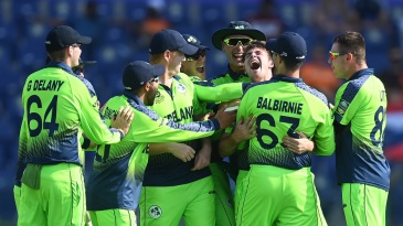 Curtis Campher became the third man to take four wickets in four balls in men's T20Is