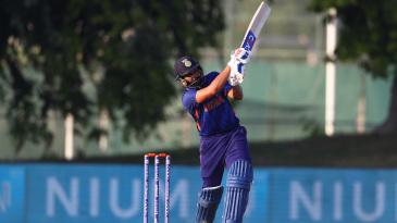 Rohit Sharma plays down the ground