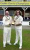 Arnie and Ryan Sidebottom celebrating the CricInfo Championship success