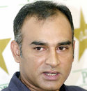 Aamer Sohail at a press conference
