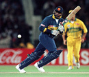 Asanka Gurusinha on his way to 65 against Australia, World Cup final, 1996