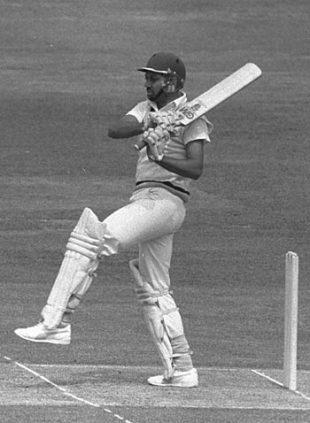 Mohinder Amarnath batting during the World Cup final, India v West Indies, Lord's, June 25, 1983