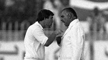 The infamous confrontation between Mike Gatting and Shakoor Rana