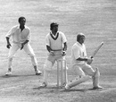 Frank Hayes on his way to 106* on debut, England v West Indies,  1st Test, The Oval, July 31, 1973