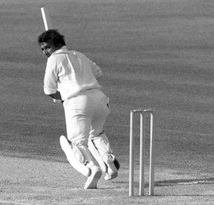 Sunil Gavaskar plays the flick, England v India, The Oval, September 1979