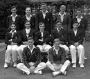 The Oxford University side against MCC in 1948 (Back row) Nigel Bloy, William  Davidson, Jika Travers, Christopher Winn, Basil Robinson. (Middle row) Abdul Kardar, Philip Whitcombe, Tony Pawson, Anthony Mallett, William Keighley. (Sitting) Clive van Ryneveld, Hubert Webb.